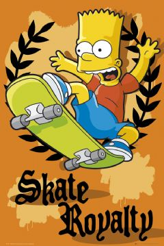 Poster Simpsons Skate Royalty