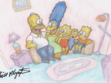Homer's Face couch gag