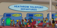 Heathrow Teleport Depatures