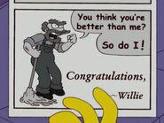 Congratulations, Willie