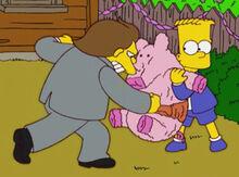 Nelson bart detonando porquinho doces