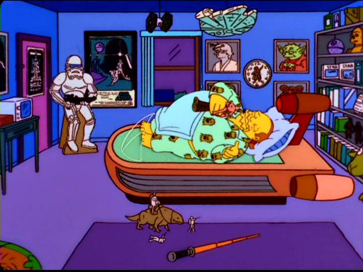 Image Comic Book Guy Bedroom Jpg Simpsons Wiki Fandom Powered