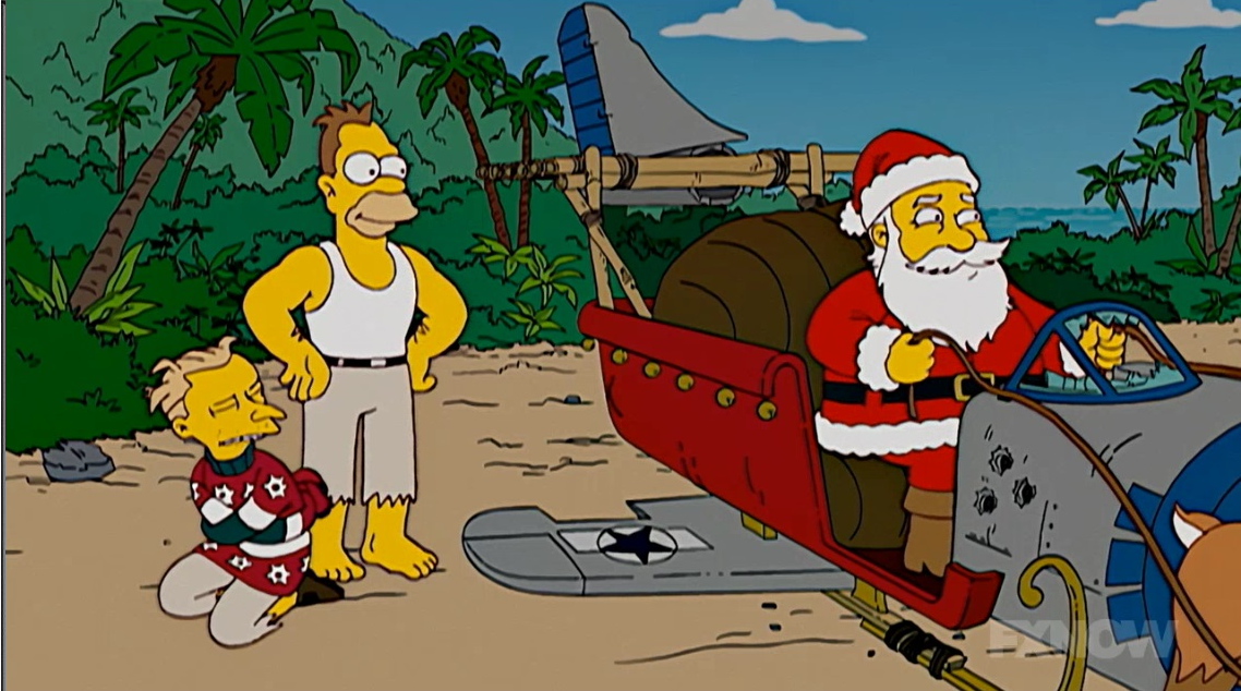 Image result for santa simpsons