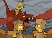 Castelo papelão 18x15 dragão 1