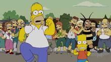 Homer bart correndo dos zombis