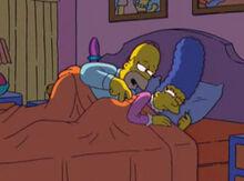 Homer querendo brincar marge