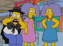 Homer e duas selmas 18x15