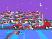 Caminhão leva caminhões e camionetes