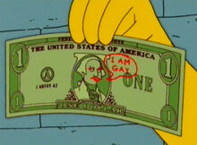 Dinheiro homer eu sou gay 18x14