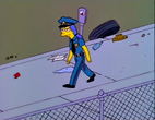 Marge as a police officer