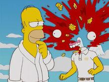 Homer explode cabeça anjo