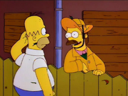 Homer i Flanders przed huraganem