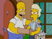 Homer pegando correspondencia outros