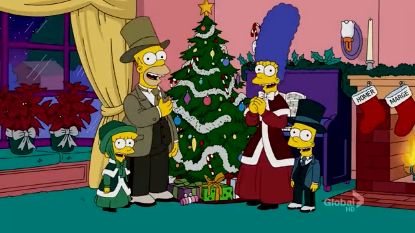 The Simpsons Christmas Episodes.The 12 Days Of Christmas Couch Gag Simpsons Wiki Fandom