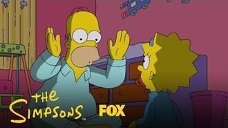 Homer & Maggie Play Peek-A-Boo Season 29 Ep. 3 THE SIMPSONS