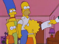Lisa zastanawia się nad ofertą Burnsa