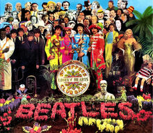 Beatles sgt pepper's couch gag