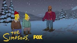 Homer Runs Into Shaq In The Forest Season 29 Ep. 9 THE SIMPSONS