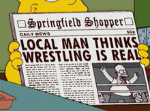 Homer wrestling real jornal