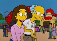 Pan Burns i Gloria w wesołym miasteczku