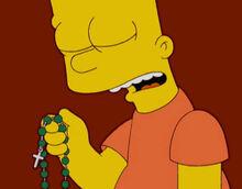 Bart reza terço