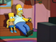 Bartwatchingtelevisionwithhomer