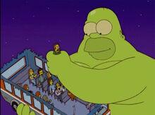 Homer monstro pega flanders thoh17