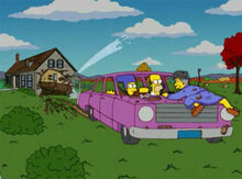 Carro simpsons casa destruida vermont