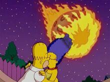Homer marge beijo meteoro
