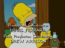 Homer degustando xarope bordo