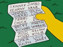 Lista de vingança milhouse