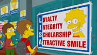 Lisa na przewodniczącą szkoły