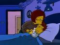 Mona's kisses Homer sadly befofe departing