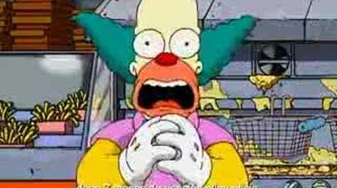 Los Simpsons llegan a Burger King (Krusty)