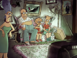 Triplets of Belleville couch gag