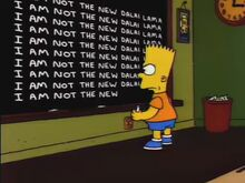 Lost Our Lisa Chalkboard Gag