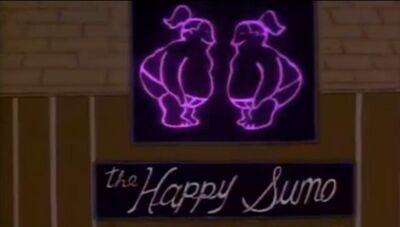 O sumô feliz