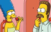 259158-The Simpsons-Marge Simpson-Ned Flanders-strawberries