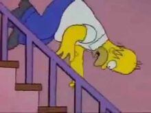 Homer Falling Down Stairs