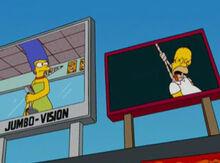 Marge telão estadio homer enforcado