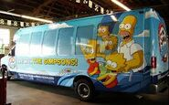 The Simpsons Ride Bus Wrap