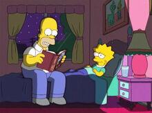 Homer leitura lisa dormir