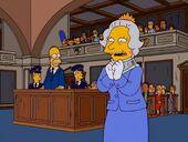Homer rentre dans la reine