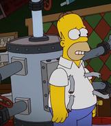 Homer with brewing machine