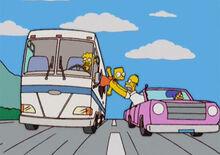 Homer bart rodovia