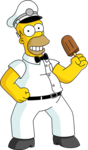 Homer icecream tapped out