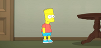 Stewie as Bart on Family Guy