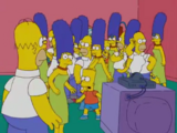 Multiple Simpson Families couch gag