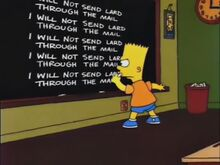 Bart's Girlfriend Chalkboard Gag