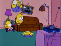 38f50cfed26ae The Simpsons are balls that bounce onto the couch. Bart almost bounces  away